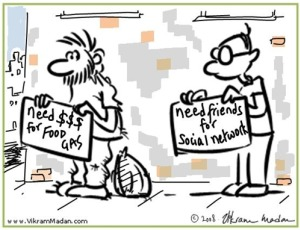 networking job search cartoon